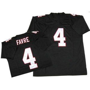Brett Favre Black Stitched Throwback Jersey